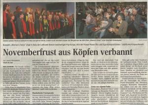 14.11.2009 Bericht Konzert Aula Lußhardtschule