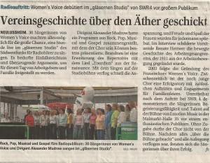 Schwetzinger Zeitung 07.05.209