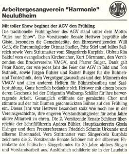 19.03.2005 Bericht Lußheimer Frühlingsfeier 1