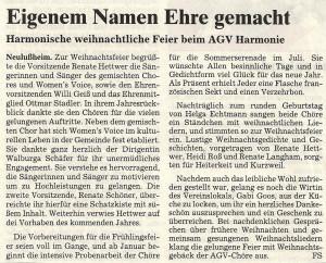 Schwetzinger Zeitung 23.12.2004