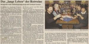 23.10.2004 Bericht Weinprobe