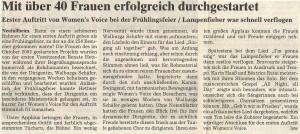 22.03.2003 Frühlingsfeier erster Auftritt W.V.