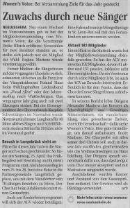 Schwetzinger Zeitung 26.02.2015