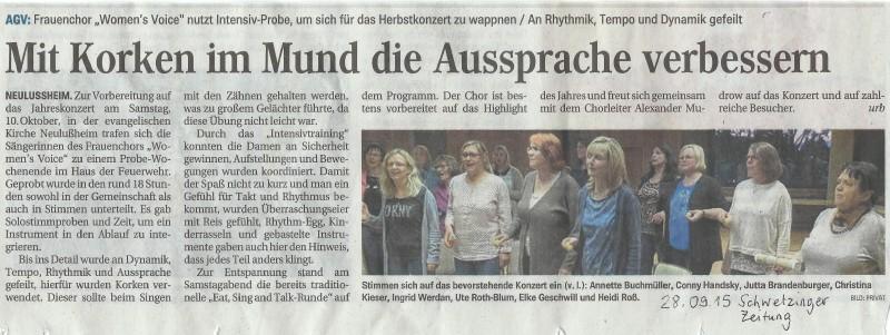 Schwetzinger Zeitung 28.09.2015