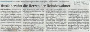 Schwetzinger Zeitung 21.12.2015 (Marion Marquetant)